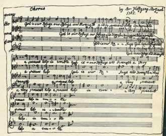 Mozart's manuscript of God is our Refuge K.20 (first effort in choral ...